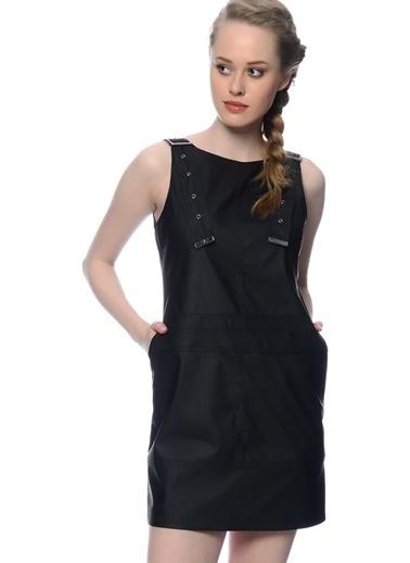 Black Pepper Kolsuz Mini Elbise Siyah